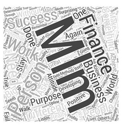 Personal finance mlm word cloud concept vector
