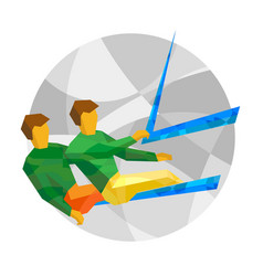 Physically disabled sailors vector
