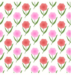 Pink and peach color floral spring background vector