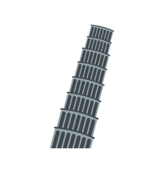 Pisa Tower icon flat style vector image