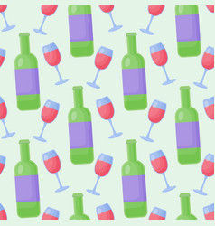 red wine flat seamless pattern vector image