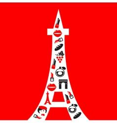 retro paris tower vector image