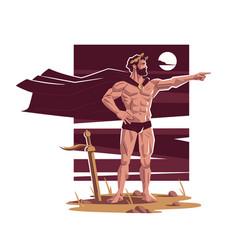roman or greek warrior commander vector image