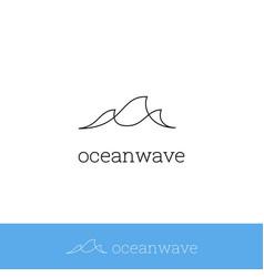 sea wave ocean wave logo icon simple monoline vector image