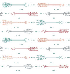 seamless pattern background with arrows vector image