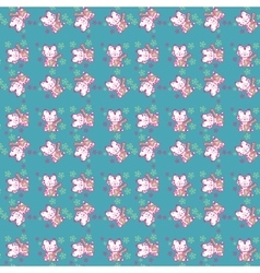 Seamless pattern Cute cats vector image