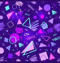 Seamless ultraviolet geometric pattern vector