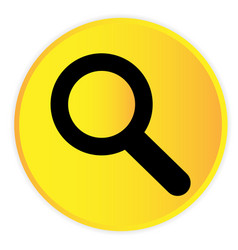 search icon yellow circle frame background vector image