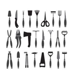 set garden tools vector image