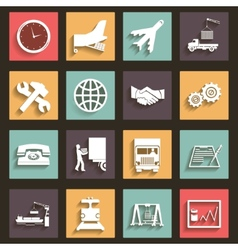 Shipment and Transportation Icons Symbols Flat vector image vector image