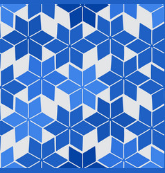 Simple abstract pattern blue colored stylized vector