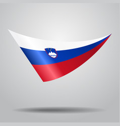 Slovenian flag background vector