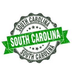South carolina round ribbon seal vector