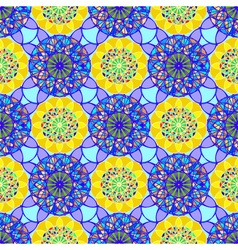 Stained glass kaleidoscope on a background of vector image