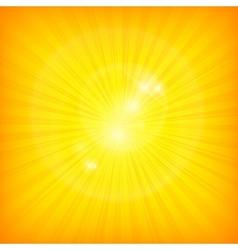 Sunburst background in yellow vector