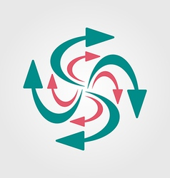 swirling arrows icon vector image