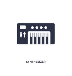 Synthesizer icon on white background simple vector