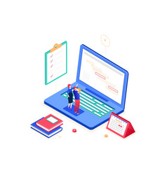 Task management - modern colorful isometric vector