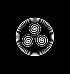 Triskelion or triskele round symbol celtic spiral vector