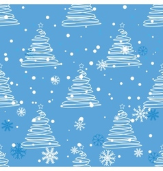 Twisted fir tree pattern vector
