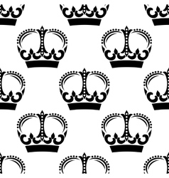 Vintage crowns pattern in victorian style vector