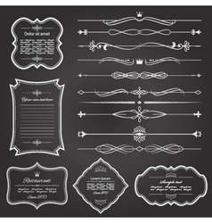 vintage frame and divider set vector image