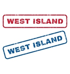 West Island Rubber Stamps vector