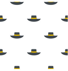 Woman hat pattern flat vector