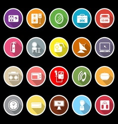 House related icons with long shadow vector image vector image