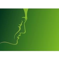 man profile green vector image vector image