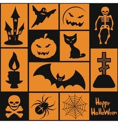 Symbols for the Halloween vector image vector image