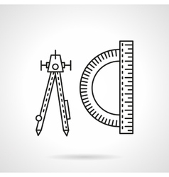 Technical tools flat line icon vector image