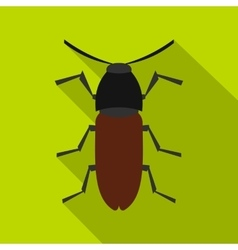 Brown bug icon flat style vector image vector image