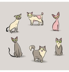 Cat set vector image