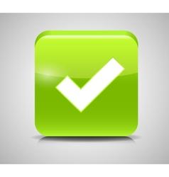 Green Check Mark Icons vector image vector image