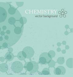 molecule background vector image vector image