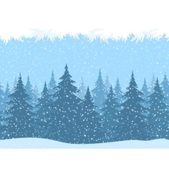 Seamless Christmas Forest Landscape vector image vector image