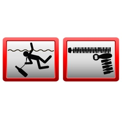 signs warning of the dangers of alcohol vector image vector image
