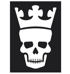 skull with crown vector image