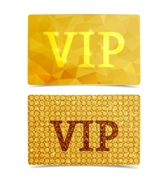 vip cards vector image