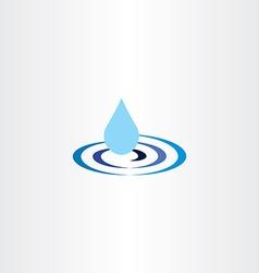Water drop ripple icon vector