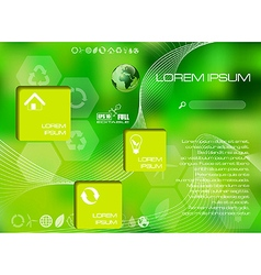 Web and mobile interface infographic vector image