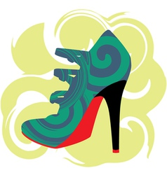 Woman Shoe vector image vector image
