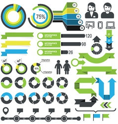 Infographics - statistic elements and icons vector image