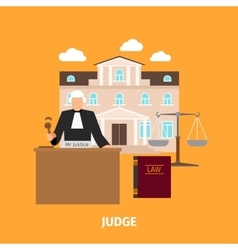 Law concept with judge vector image