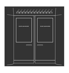 Subway doors vector