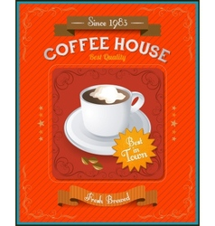 Vintage Coffee House card vector image vector image