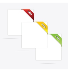 web paper blank set vector image vector image