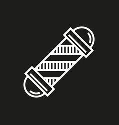 barbershop element icon on black vector image vector image