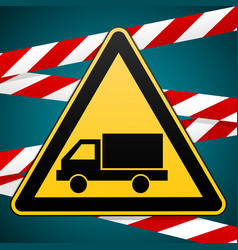 beware of the car safety warning sign vector image